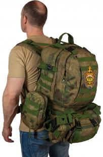 Большой тактический военный рюкзак для полевых условий с эмблемой МВД оптом в Военпро