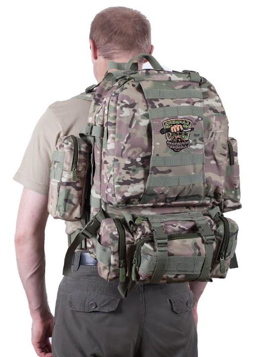 Большой трехдневный рюкзак с охотничьей нашивкой купить с доставкой