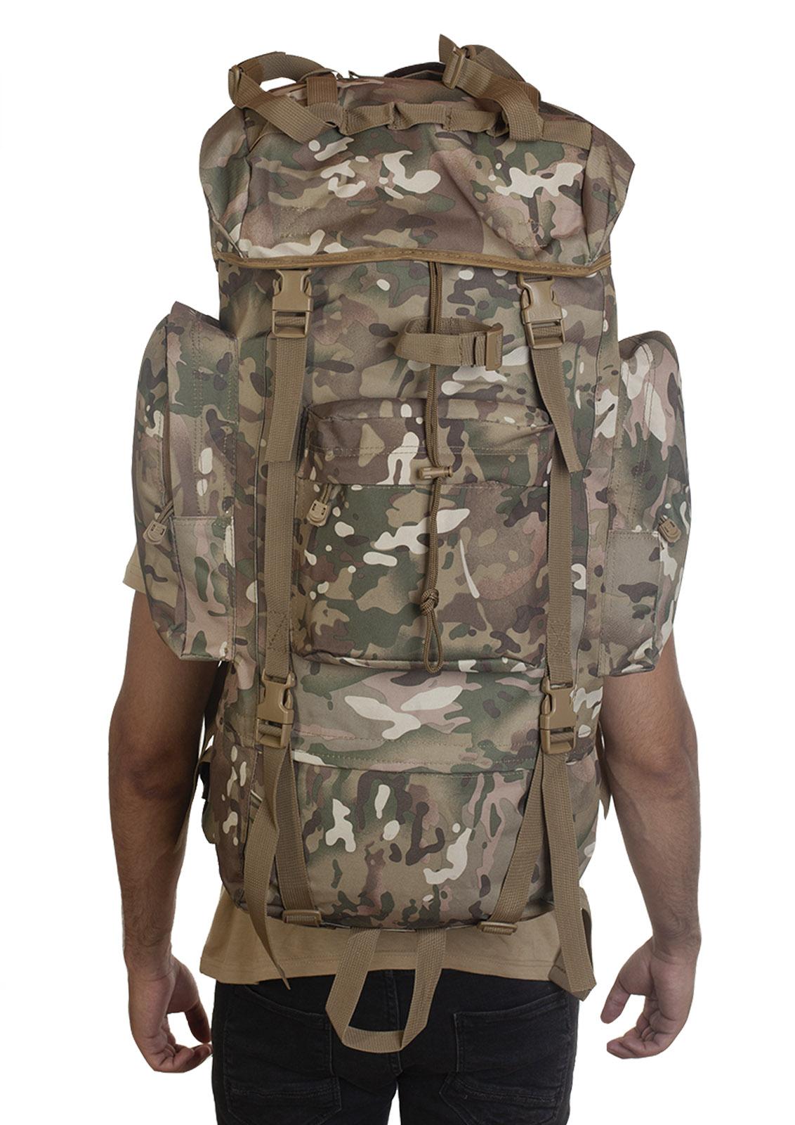 Большой камуфляжный рюкзак Multicam с обвеской MOLLE  - высокое качество