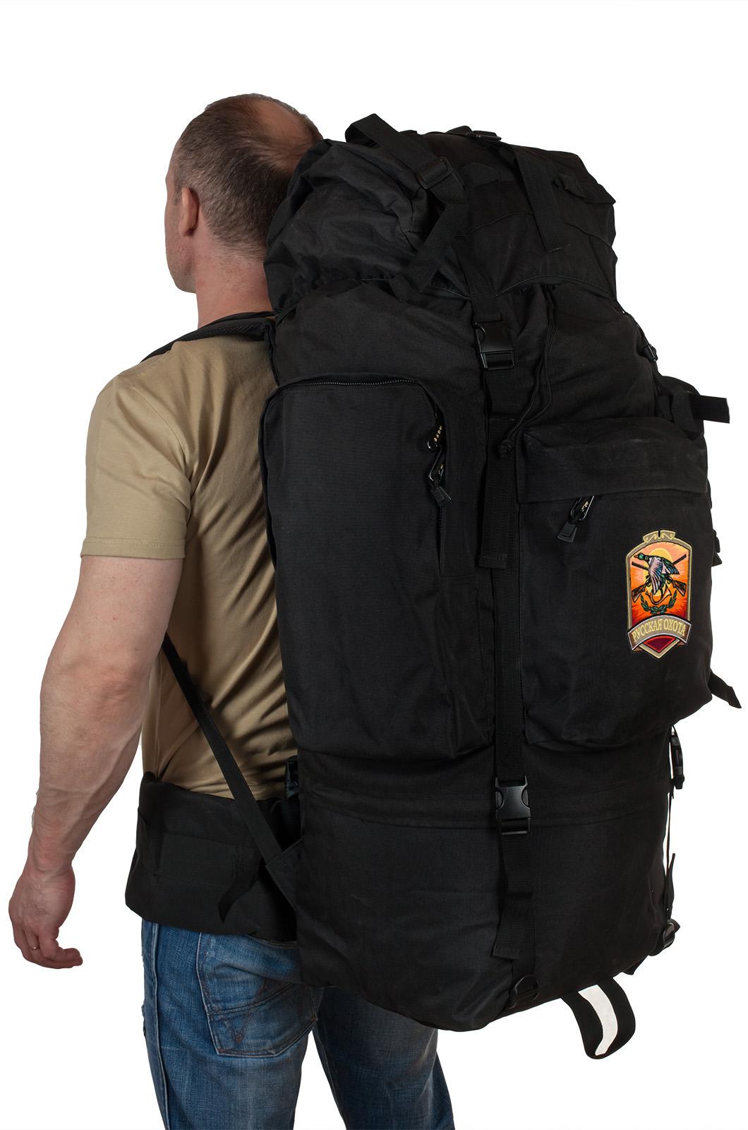 Большой удобный рюкзак с нашивкой Русская Охота - купить в розницу