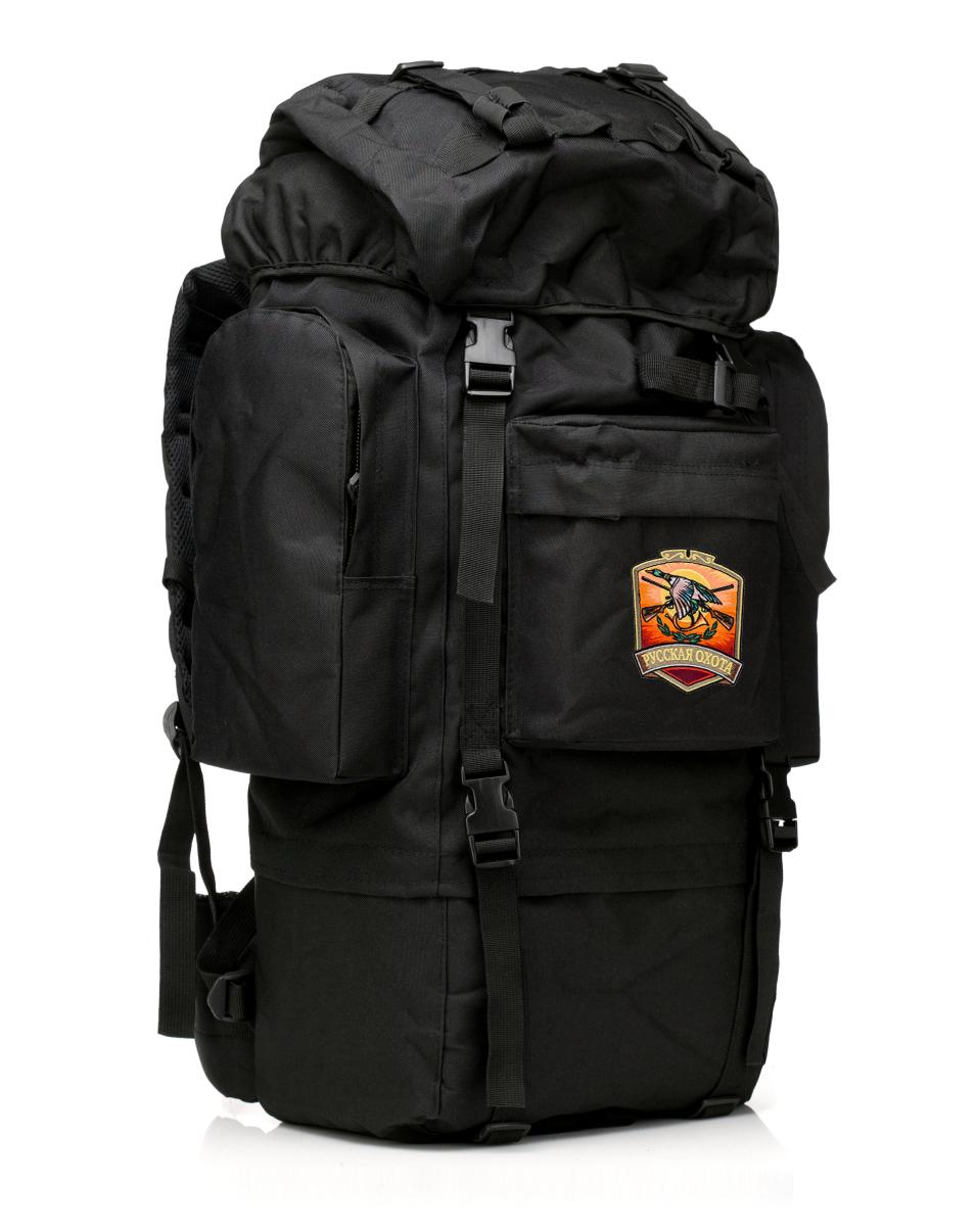 Большой удобный рюкзак с нашивкой Русская Охота - купить в подарок