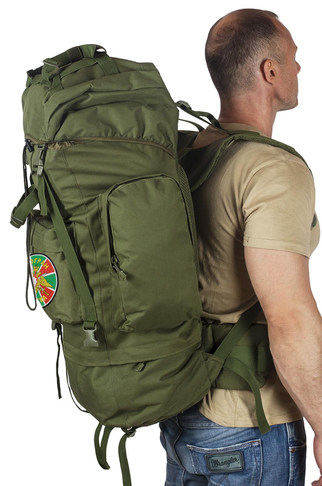 Большой военный рюкзак с нашивкой ПОГРАНВОЙСКА - заказать с доставкой