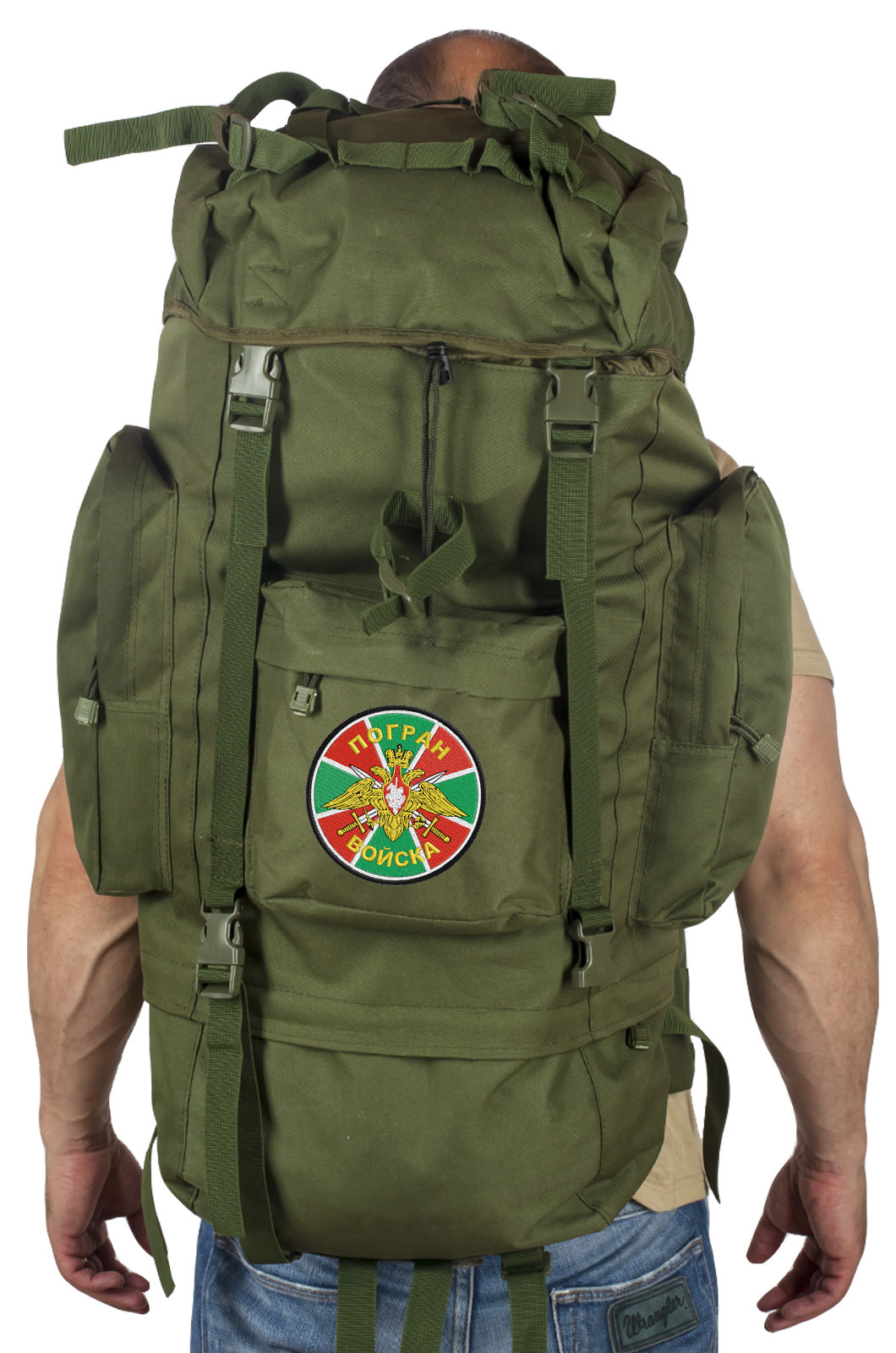Большой военный рюкзак с нашивкой ПОГРАНВОЙСКА - заказать онлайн