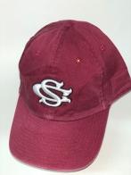 Бордовая бейсболка с белой 3-D вышивкой