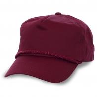Бордовая кепка из натурального хлопка. Лаконичная и удобная