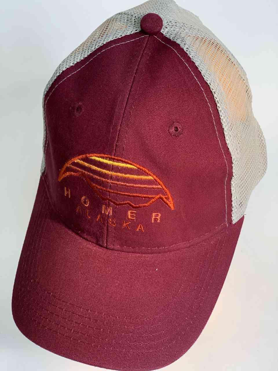 Бордовая кепка с сеткой HOMER АLASKA