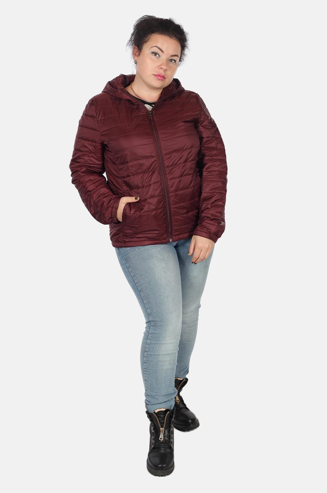 Бордовая короткая женская куртка Rosa Thea (Италия) с удобной доставкой