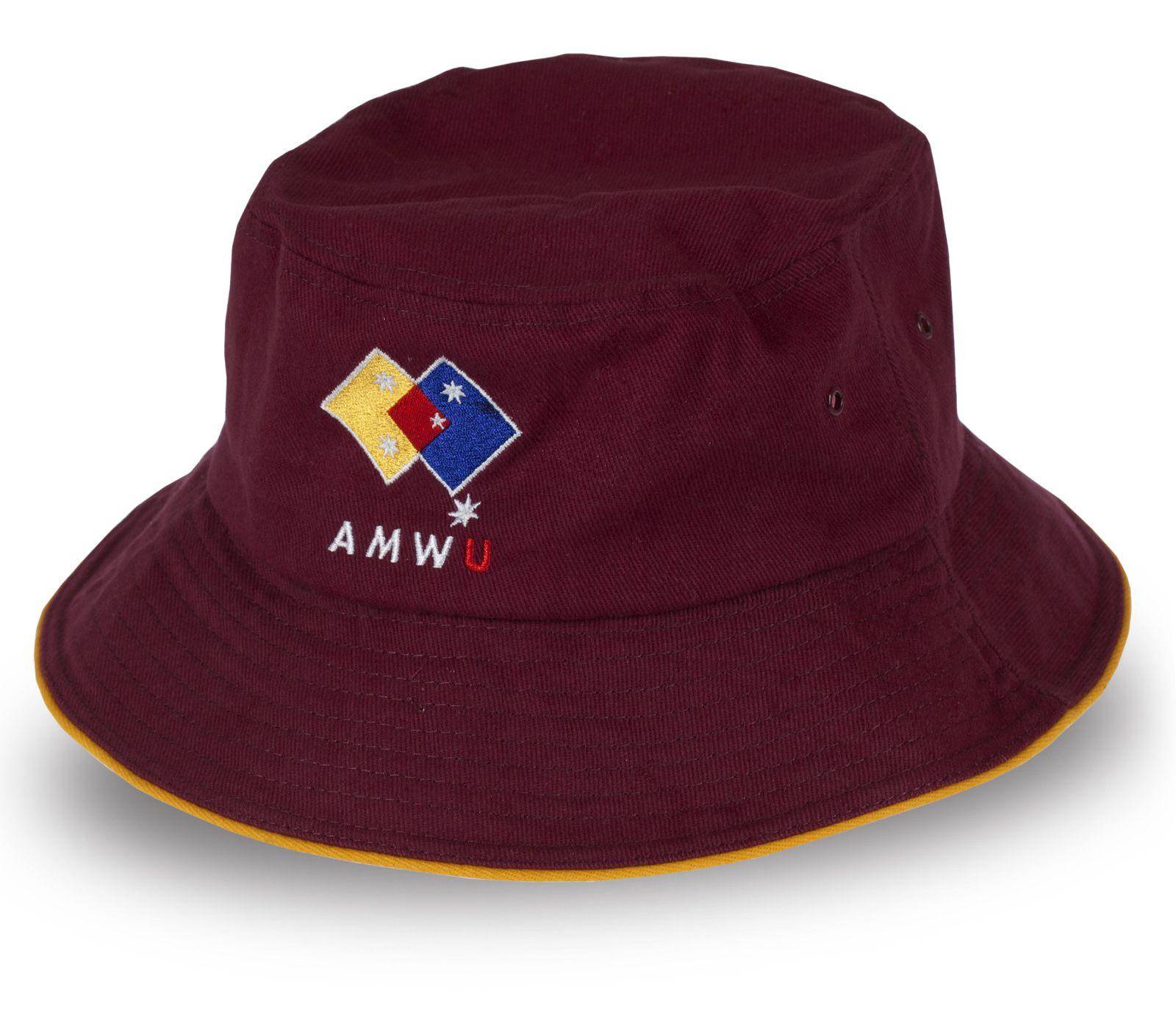 Бордовая панама AMWU