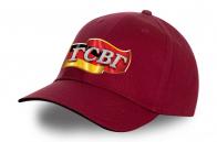 Бордовая сочная кепка с термонаклейкой ГСВГ - купить выгодно