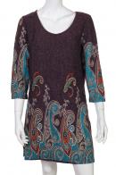 Бордовое платье в винтажном стиле