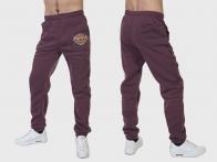 Бордовые мужские спортивные штаны для рыбака