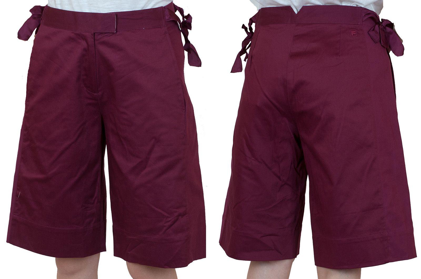 Бордовые городские шорты для девушек - общий вид
