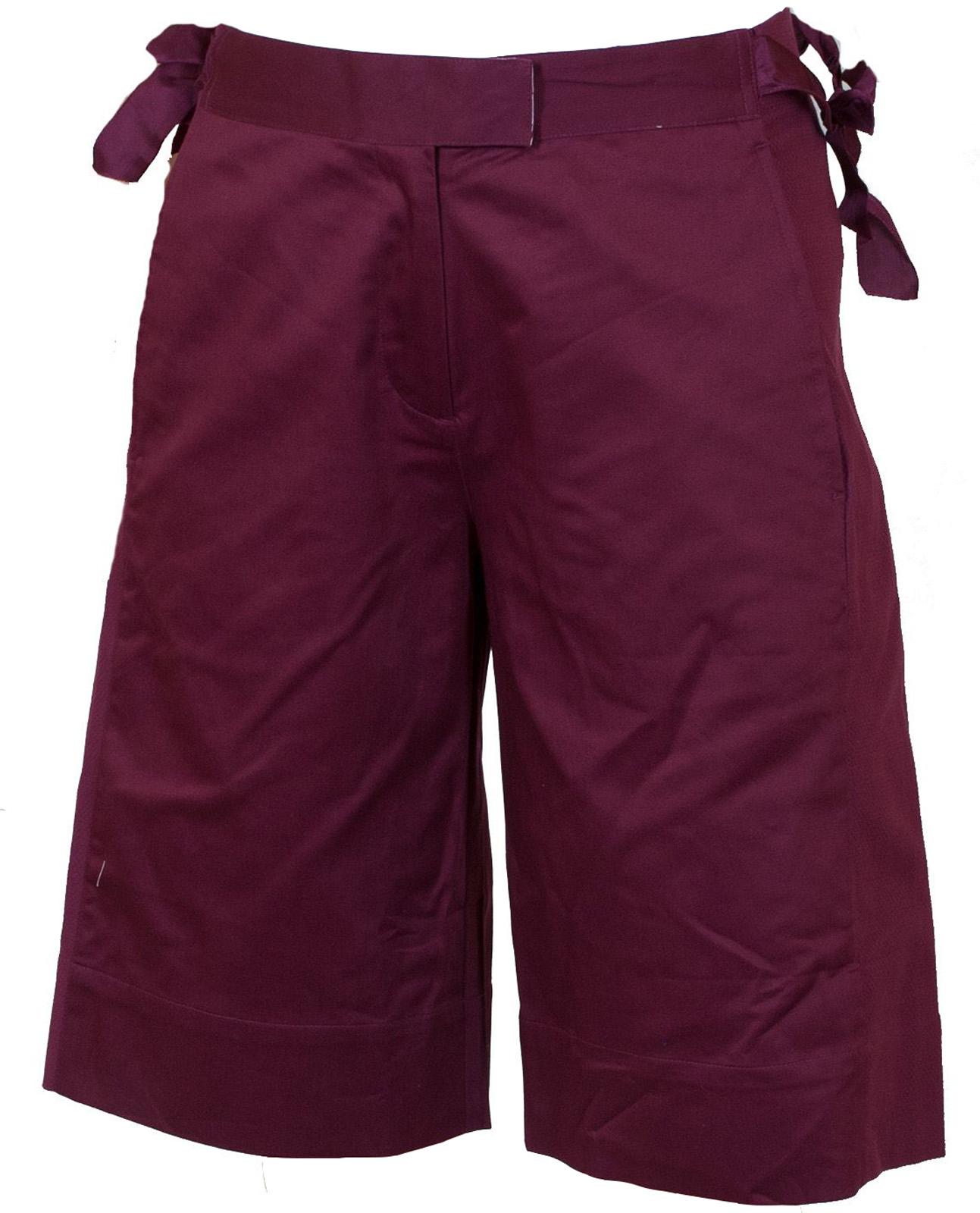 Бордовые городские шорты для девушек