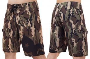 Мужские бордшорты в эффектном милитари дизайне от мирового бренда лайфстайл и экстрим-одежды