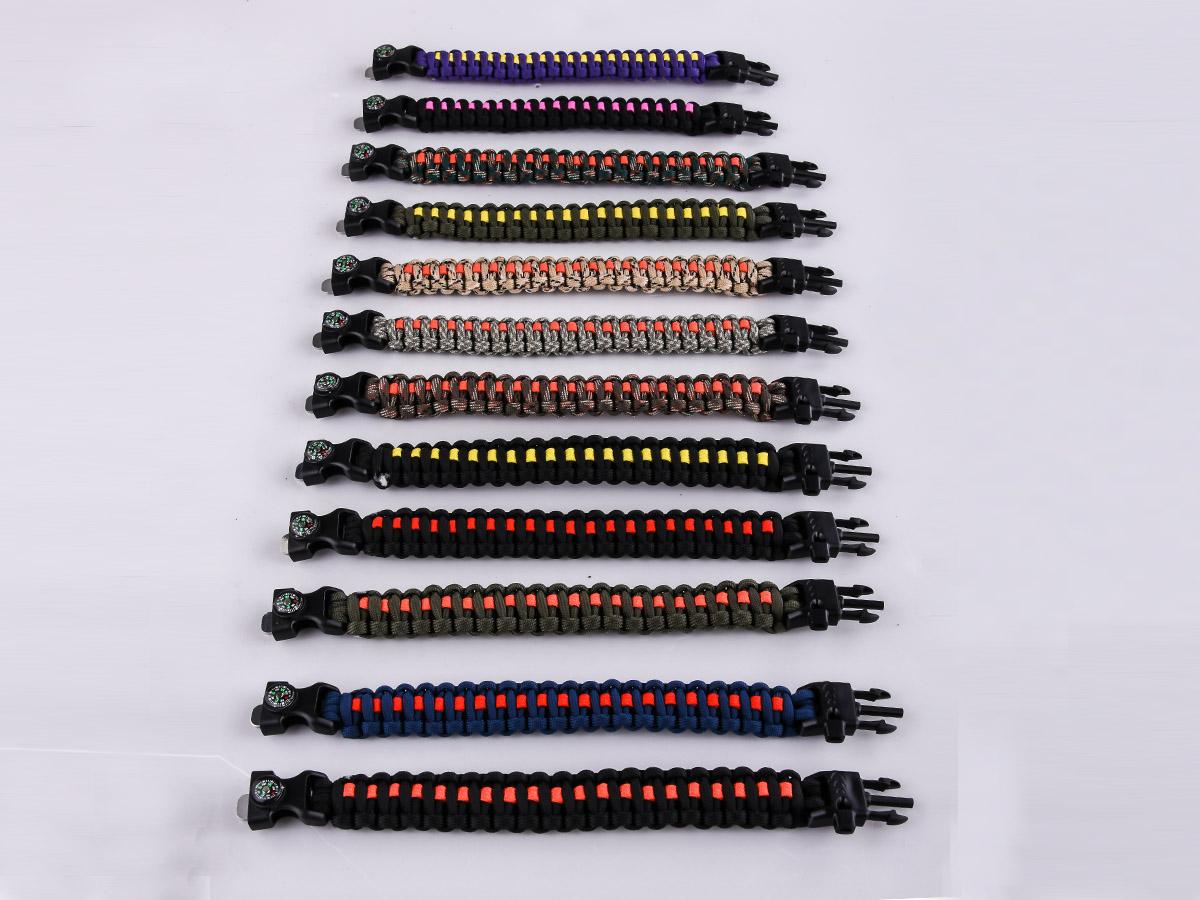 Нейлоновые браслеты для выживания