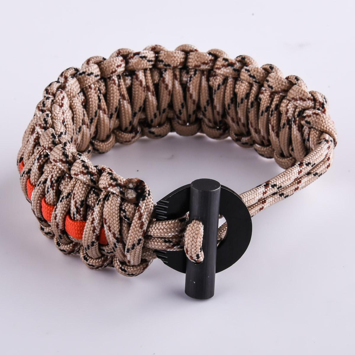 Браслет из паракорда плетение кобра - пустынный камуфляж