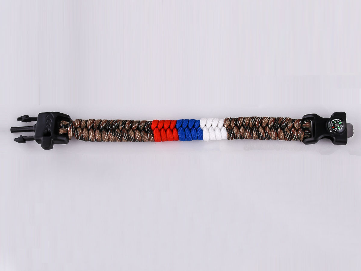 Купить браслет из паракорда с огнивом