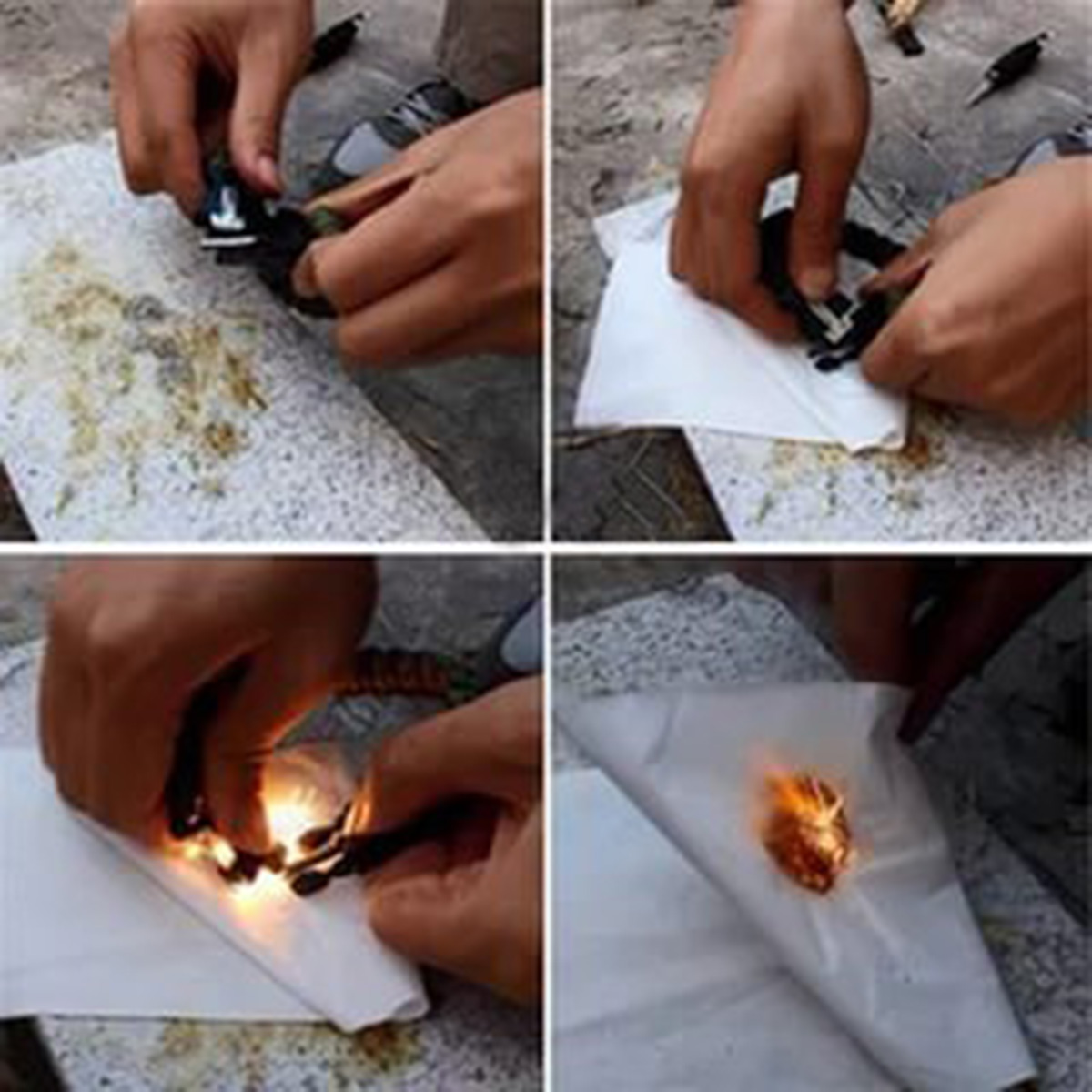 Браслет из шнурков с огнивом