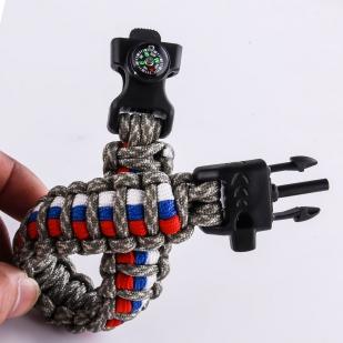 Браслет из шнурков с пряжкой-фастекс
