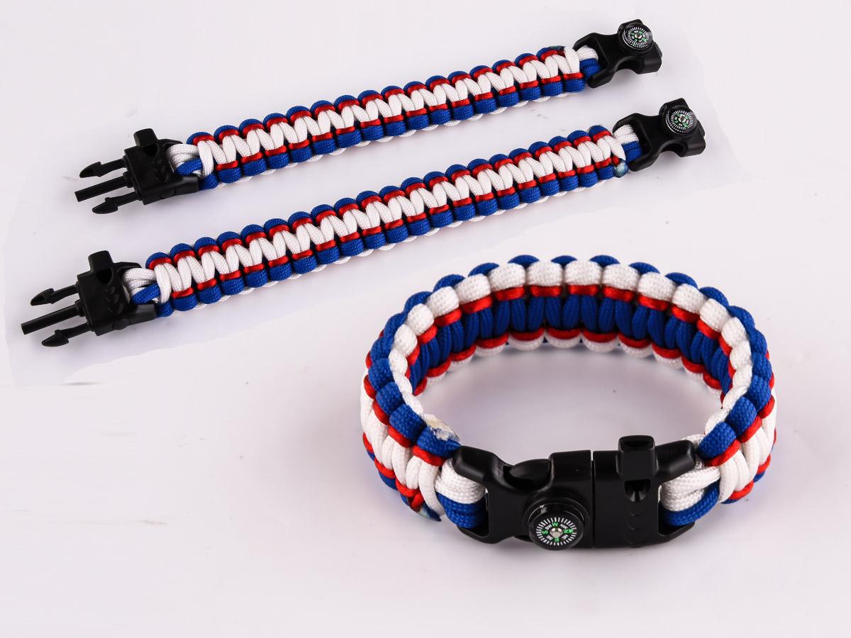 Плетеные мужские браслеты для охотников, туристов, рыбаков