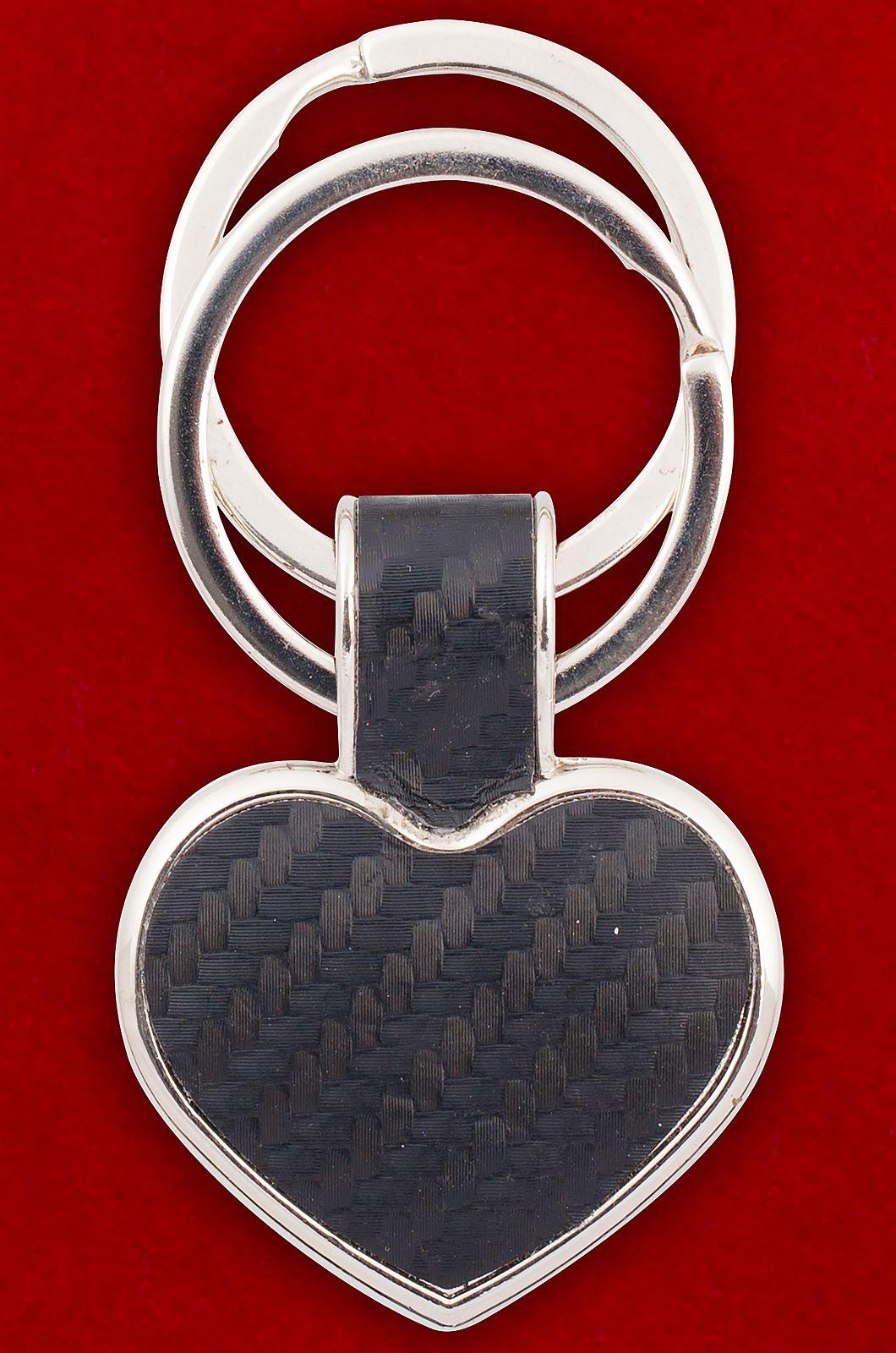 "Брелок с двумя кольцами ""Сердце"""