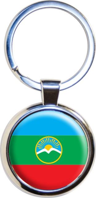 Брелок с флагом Карачаево-Черкесии