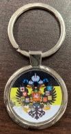 Брелок с гербом и имперским флагом России