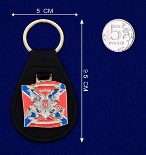 """Брелок с жетоном """"Новороссия"""" - сравнительный размер"""