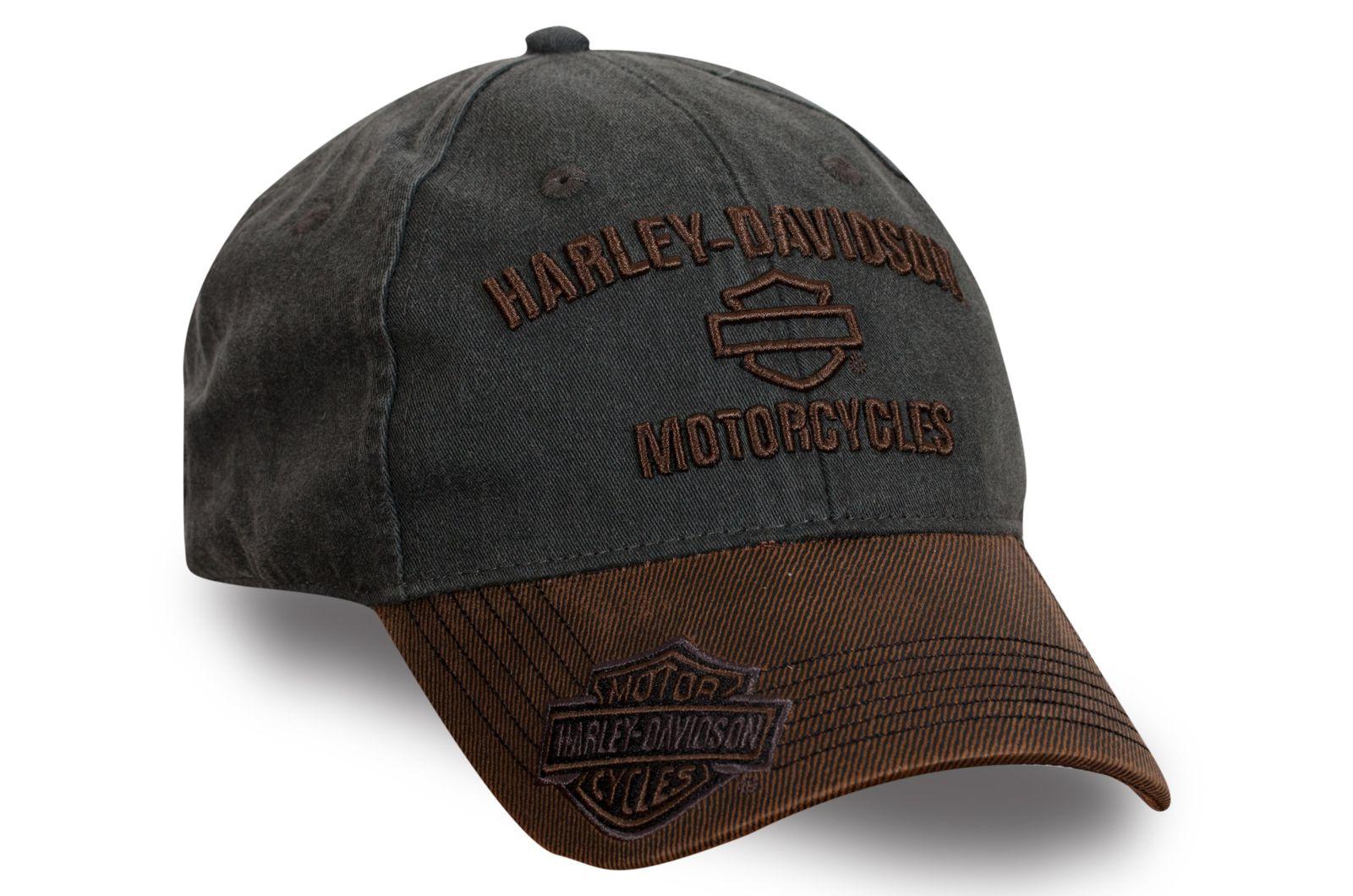 Брендовая бейсболка байкера Harley-Davidson