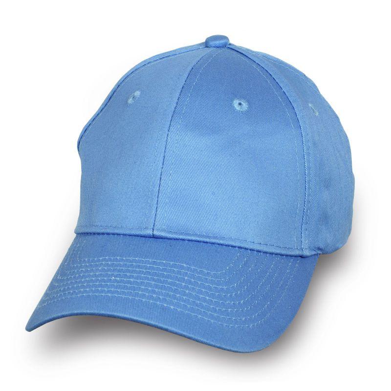 Брендовая бейсболка голубая