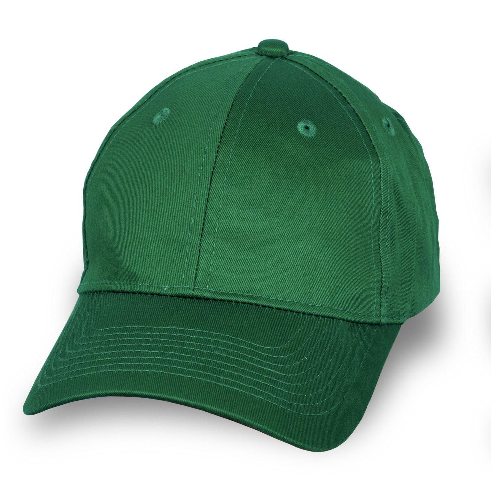 Брендовая бейсболка зеленая