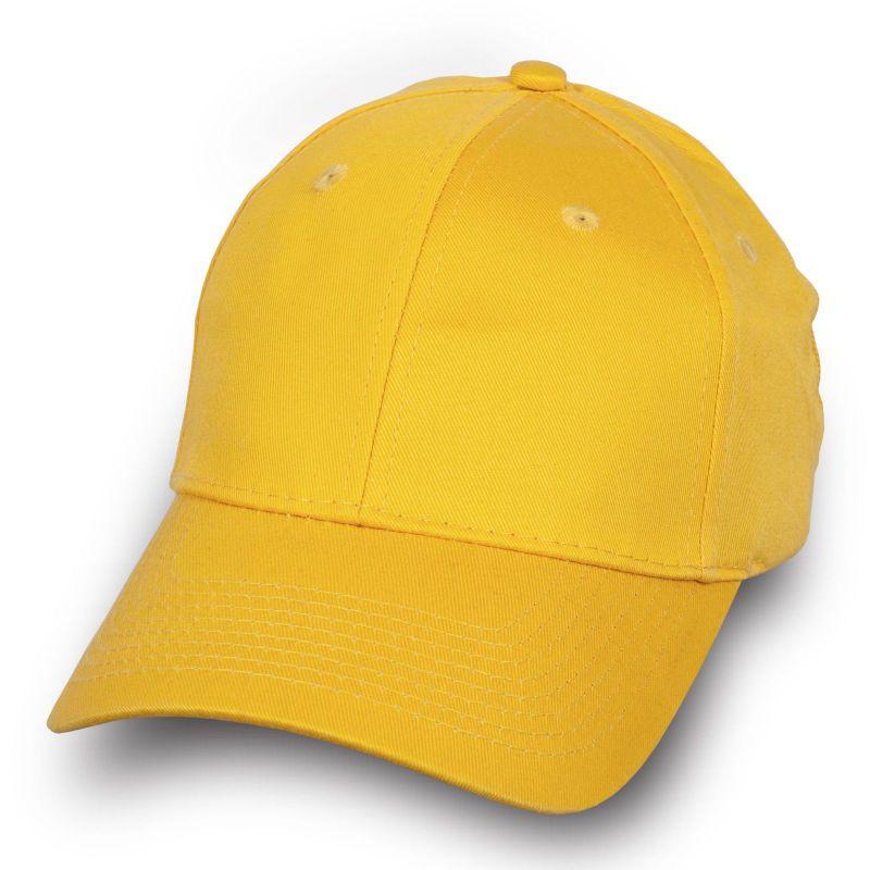 Брендовая бейсболка желтая