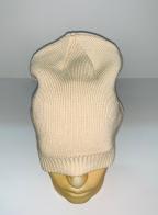 Брендовая бежевая шапка