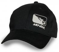 Брендовая черная бейсболка SKI-DOO