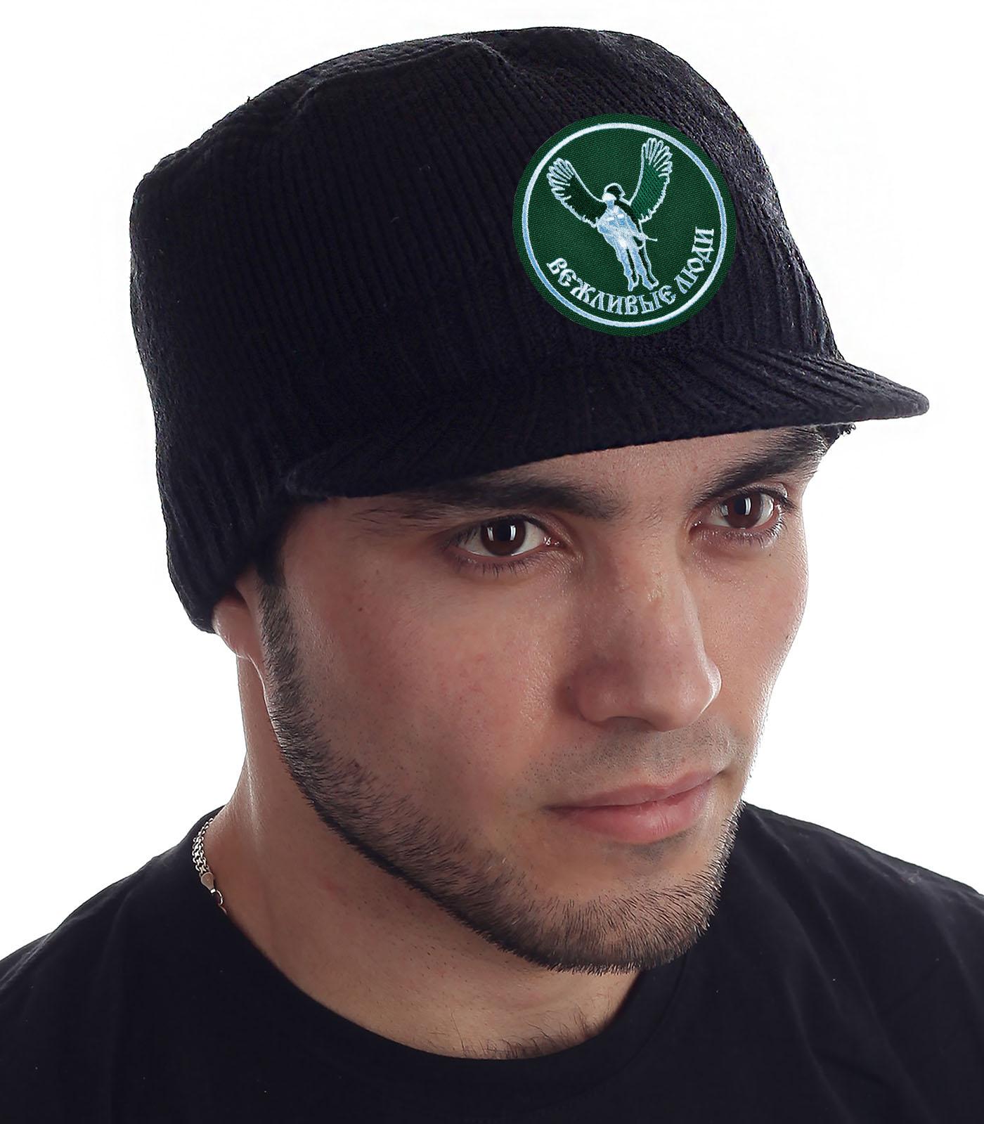 Купить брендовую черную шапку с козырьком Miller Way с доставкой онлайн