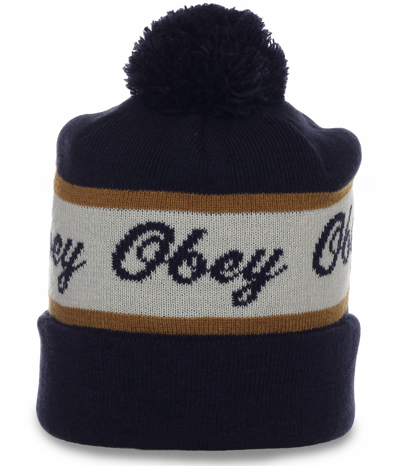 Брендовая исключительная щегольская шапка Obey модного дизайна и фасона всем кто в спорте