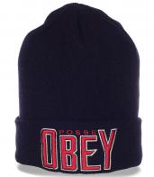 Брендовая классическая мужская шапка от Obey
