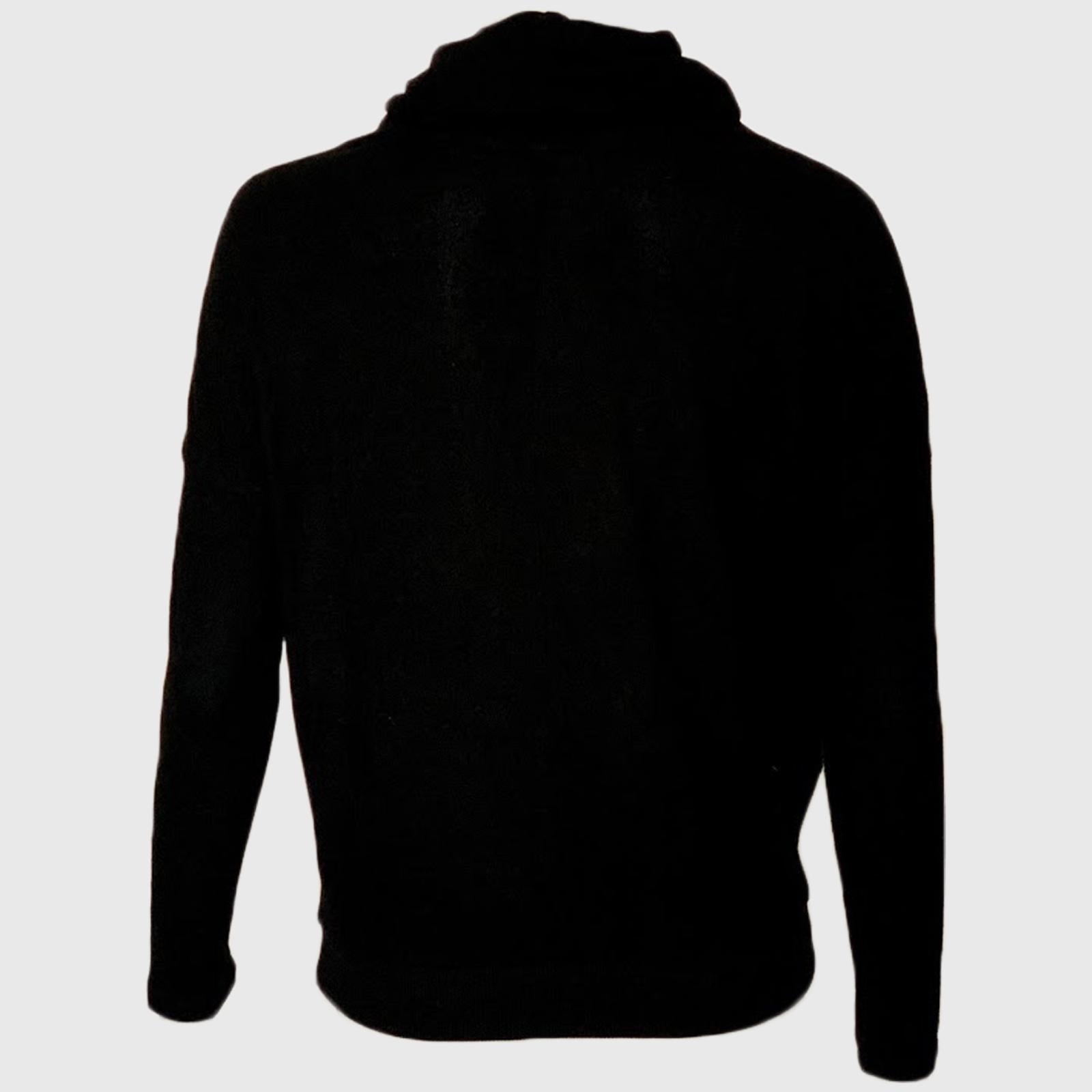 Купить в интернет магазине черную женскую кофту с воротником хомут