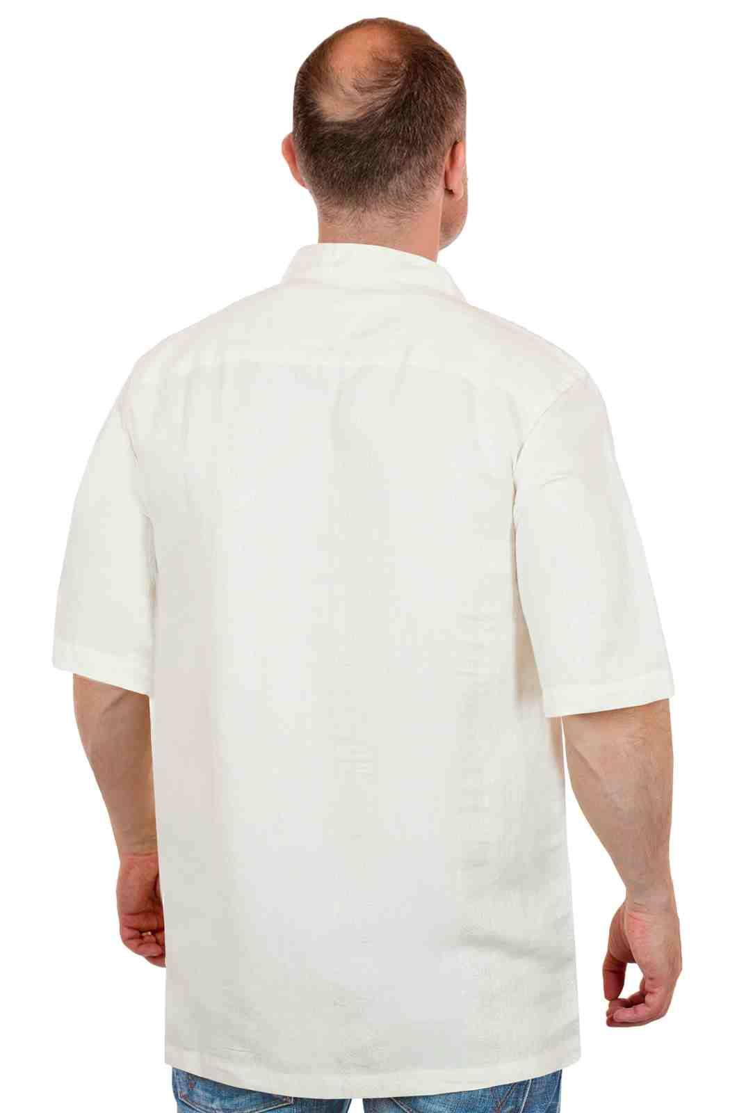 Брендовая летняя рубашка Caribbean Joe (США) для настоящих мужчин-сзади