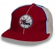 Брендовая мужская бейсболка со спортивным логотипом Philadelphia 76ers