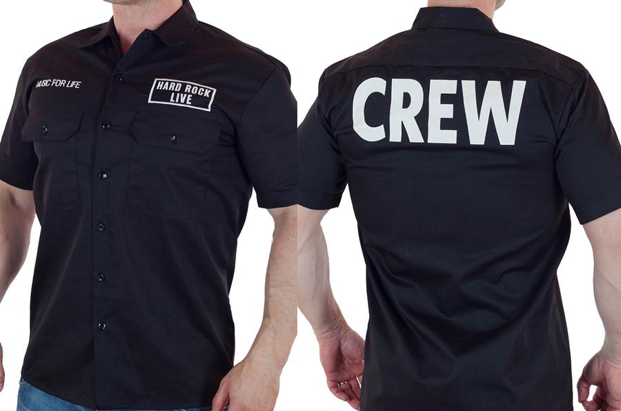 Брендовая мужская рубашка в стиле Hard Rock купить онлайн
