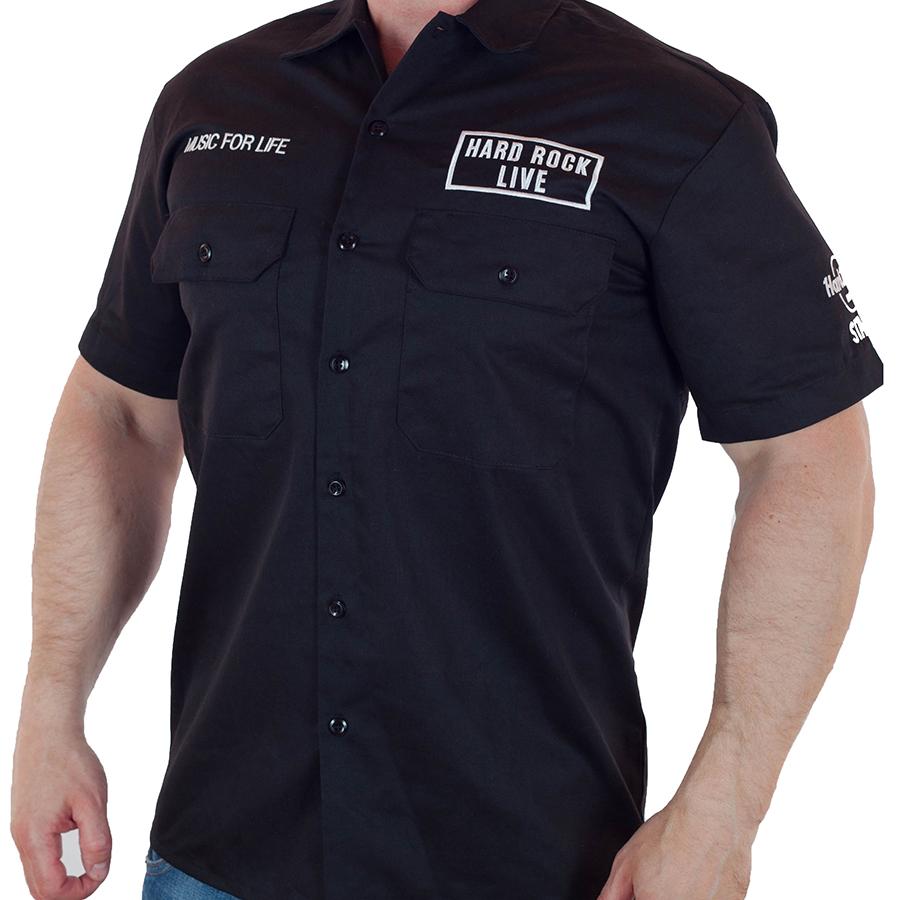 Брендовая мужская рубашка в стиле Hard Rock