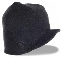 Брендовая мужская вязаная кепка на флисе от Barts