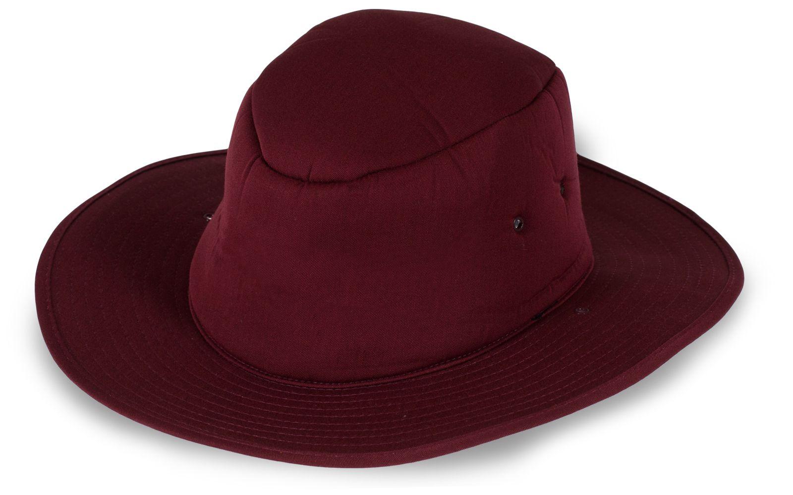 Брендовая шляпа бордовая
