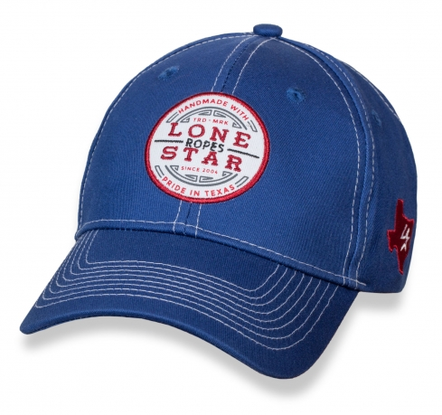 Брендовая синяя бейсболка Lone Star