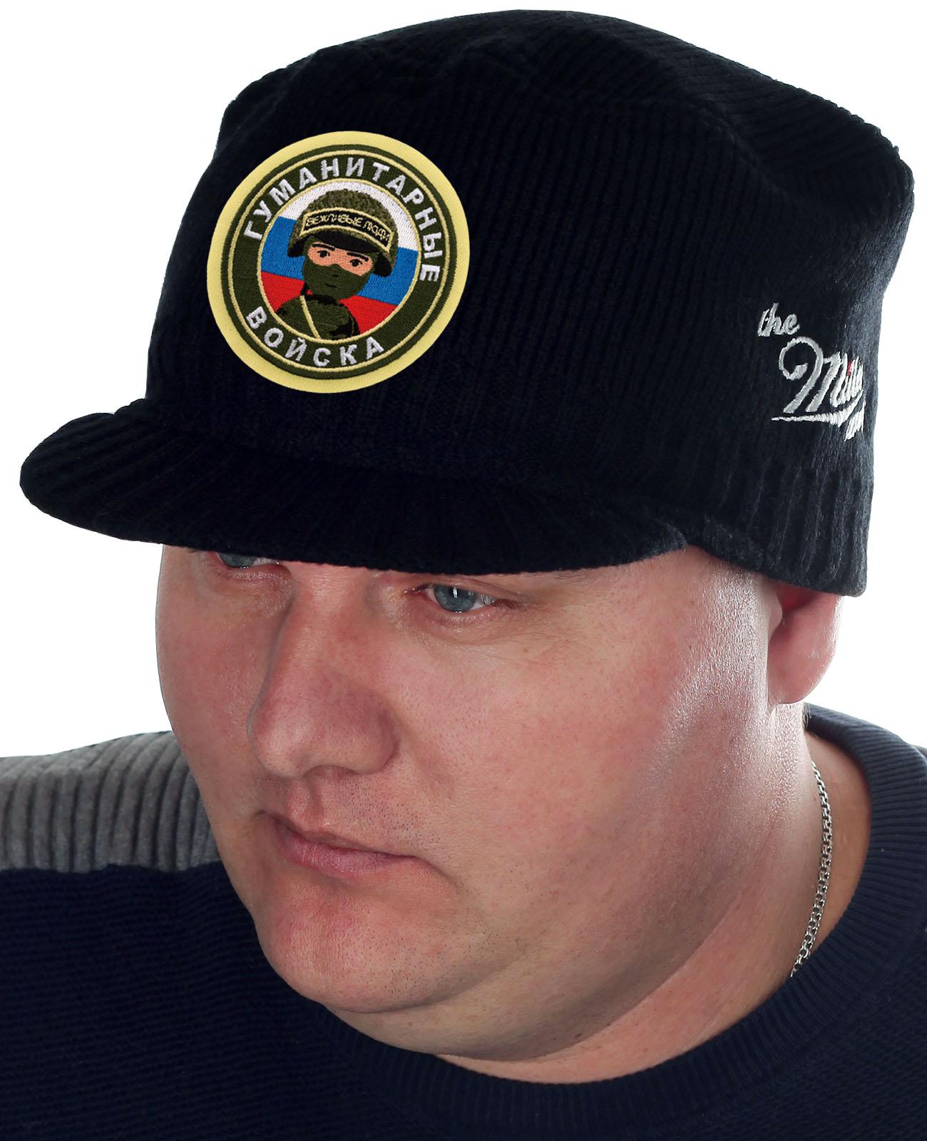 Брендовая вязаная шапка-кепка от Miller Way - купить оптом