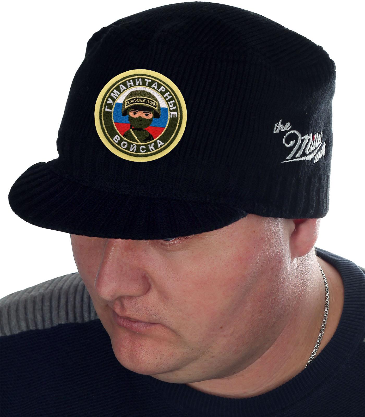 Брендовая вязаная шапка-кепка от Miller Way - купить онлайн