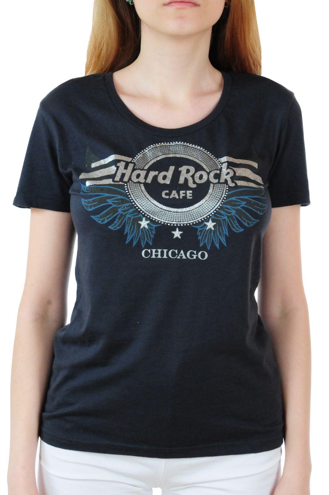 Брендовая женская футболка Hard Rock® Chicago - вид спереди
