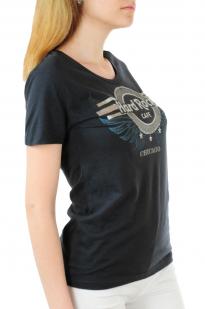 Брендовая женская футболка Hard Rock® Chicago - вид сбоку