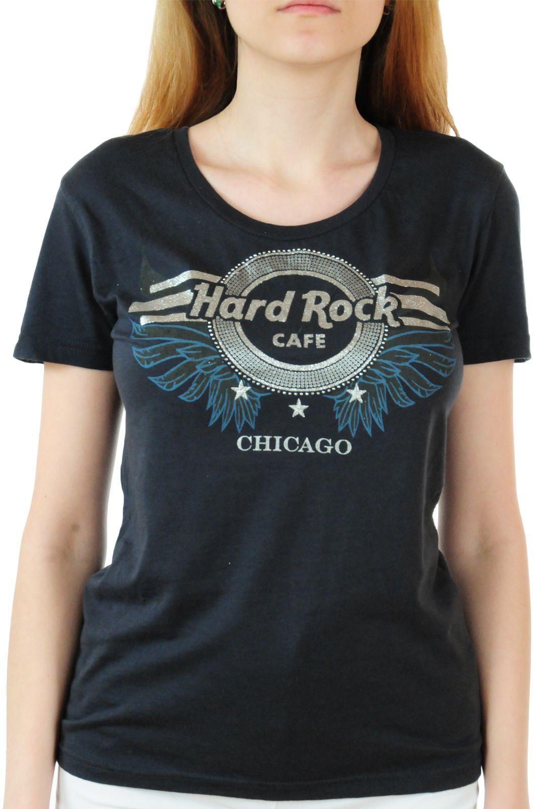Брендовая женская футболка Hard Rock® Chicago